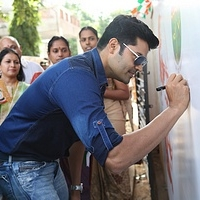 tn_1 Actor Ganesh Venkataraman at the launch of on campus Swachh Bharat campaign, Agarwal vidhyalaya