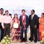 TFPC president, SIAA General Secretary Vishal 's sister Aishwarya Reception Stills (10)