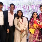 TFPC president, SIAA General Secretary Vishal 's sister Aishwarya Reception Stills (14)