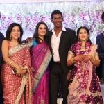 TFPC president, SIAA General Secretary Vishal 's sister Aishwarya Reception Stills (19)