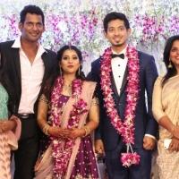 TFPC president, SIAA General Secretary Vishal 's sister Aishwarya Reception Stills (25)