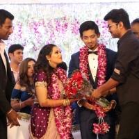 TFPC president, SIAA General Secretary Vishal 's sister Aishwarya Reception Stills (3)