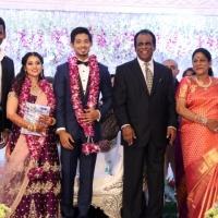 TFPC president, SIAA General Secretary Vishal 's sister Aishwarya Reception Stills (9)